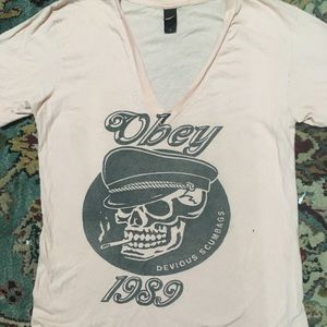 OBEY Devious Scumbags T-shirt size L